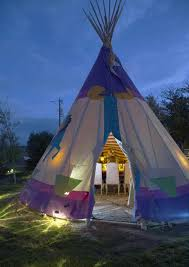 tipis at Mustang Monument
